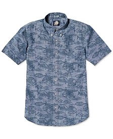 Reyn Spooner Men's Kauhulu Printed Chambray Shirt