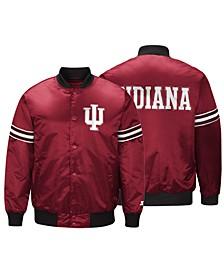 Men's Indiana Hoosiers Draft Pick Varsity Satin Jacket