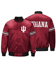 G-III Sports Men's Indiana Hoosiers Draft Pick Varsity Satin Jacket