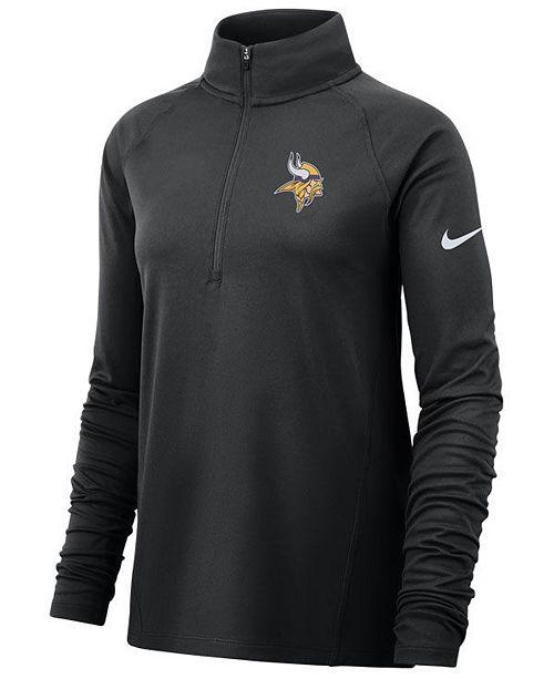 Nike Women's Minnesota Vikings Half-Zip Core Element Pullover