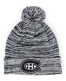 Authentic NHL Headwear Montreal Canadiens Black White Cuffed Pom Knit Hat