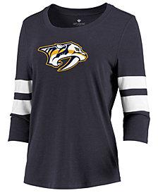 Majestic Women's Nashville Predators Let Loose Raglan T-Shirt