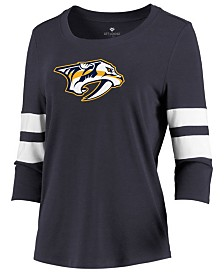 Majestic Women's Nashville Predators Let Loose Raglan T-Shirt