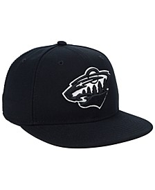 NHL Authentic Headwear Minnesota Wild Black DUB Fitted Cap