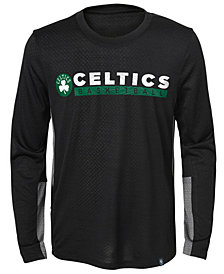 Jordan Boston Celtics Covert Long Sleeve T-Shirt, Little Boys (4-7)