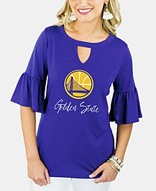 Women's Golden State Warriors Ruffle T-Shirt