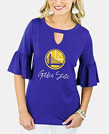 Gameday Couture Women's Golden State Warriors Ruffle T-Shirt