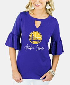 Gameday Couture Women's Golden State Warriors Ruffle T-Shirt