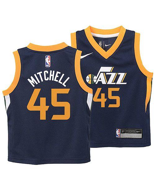 cheaper 68393 0281f Donovan Mitchell Utah Jazz Icon Replica Jersey, Toddler Boys (2T-4T)