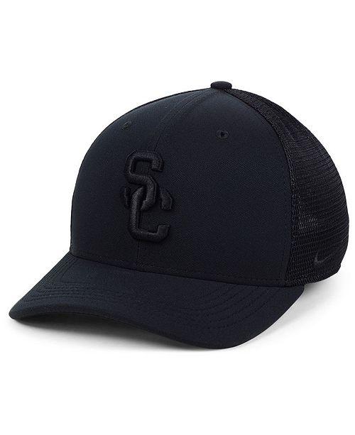 710dc5b2b441a Nike USC Trojans Aerobill Black Swoosh Cap   Reviews - Sports Fan ...
