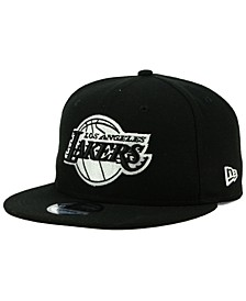Los Angeles Lakers Black White 9FIFTY Snapback Cap