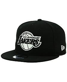 New Era Los Angeles Lakers Black White 9FIFTY Snapback Cap