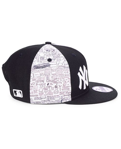 ab4d7b4bae3a5 ... New Era New York Yankees Jean-Michel Basquiat Collection 9FIFTY Snapback  Cap ...