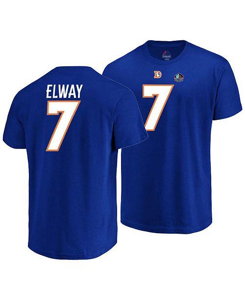 outlet store 871af ac5e0 Majestic Men's John Elway Denver Broncos Hall of Fame Eligible Receiver  Triple Peak T-Shirt