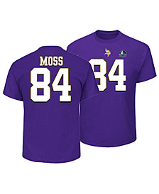 Majestic Men's Randy Moss Minnesota Vikings Hall of Fame Eligible Receiver Triple Peak T-Shirt