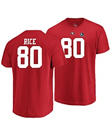 Majestic Men's Jerry Rice San Francisco 49ers Hall of Fame Eligible Receiver Triple Peak T-Shirt