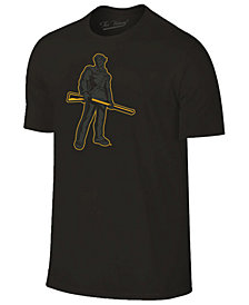 Champion Men's West Virginia Mountaineers Black Out Dual Blend T-Shirt