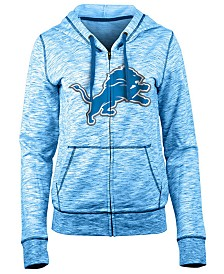 5th & Ocean Women's Detroit Lions Space Dye Full-Zip Hoodie