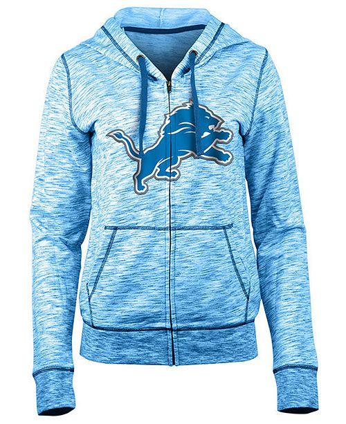 5th & Ocean Women's Detroit Lions Space Dye Full-Zip Hoodie
