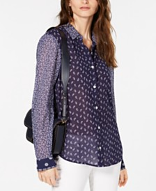 MICHAEL Michael Kors Mixed-Paisley Button-Down Shirt