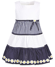 Blueberi Boulevard Little Girls Three Tier Eyelet Dress
