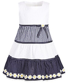 Blueberi Boulevard Toddler Girls Three-Tier Dress