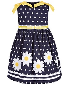 Blueberi Boulevard  Little Girls Dots & Daisies Dress