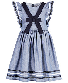 Bonnie Jean Little Girls Chambray Sailor Dress