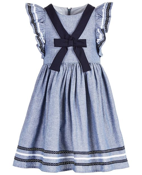 43b3f27e961 Bonnie Jean Little Girls Chambray Sailor Dress & Reviews - Dresses ...