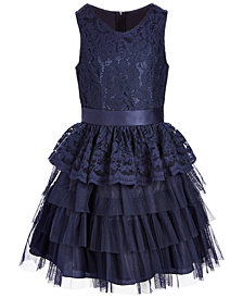Nanette Lepore Big Girls Lace Organza Dress