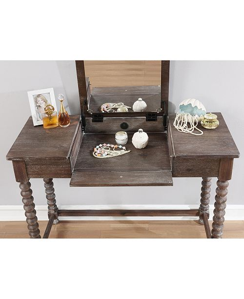 Linon Home Décor Ashley Vanity Set With Bench And Mirror