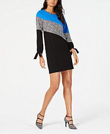 Alfani Colorblocked Shift Dress, Created for Macy's