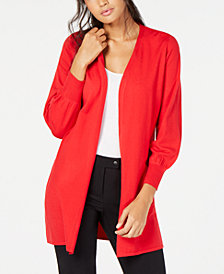 Alfani Bishop-Sleeve Cardigan, Created for Macy's