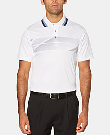 PGA TOUR Men's Athletic-Fit Performance Stretch Moisture-Wicking Printed Polo