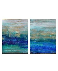 Ready2HangArt 'Ocean Spray' 2 Piece Abstract Canvas Wall Art Set