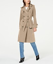 f6a02ace54996 London Fog Belted Double-Breasted Trench Coat