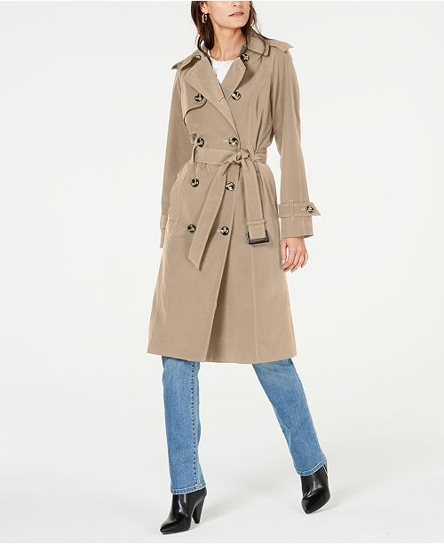 London Fog Belted Double-Breasted Trench Coat
