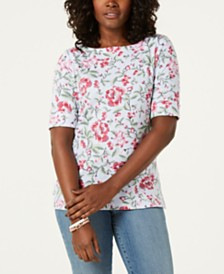 Karen Scott Petite Printed Top, Created for Macy's