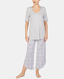 Ellen Tracy Plus Size Printed Pajama Set