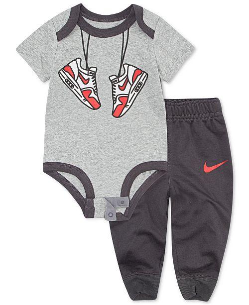 ecdf59af8 Nike Baby Boys Graphic-Print Bodysuit & Jogger Pants Set & Reviews ...
