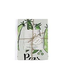 Peas Tea Towel Set