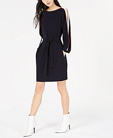 Marella Sguizzo Split-Sleeve Belted Dress