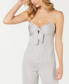 INC Satin Striped Pajama Top, Created for Macy's