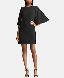 Lauren Ralph Lauren Crepe-Overlay Dress