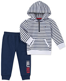 Tommy Hilfiger Baby Boys 2-Pc. Striped Hoodie & Jogger Pants Set