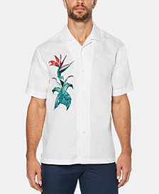 Cubavera Men's Bird of Paradise Short-Sleeve Linen Shirt