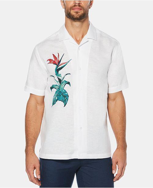 537a367d8f Cubavera Men s Bird of Paradise Short-Sleeve Linen Shirt - Casual ...