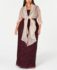Adrianna Papell Plus Size Evening Wrap Jacket