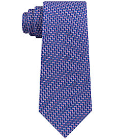 Michael Kors Men's Classic Chevron-Stripe Silk Tie