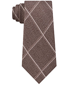 MICHAEL Michael Kors Men's Herringbone Grid Tie